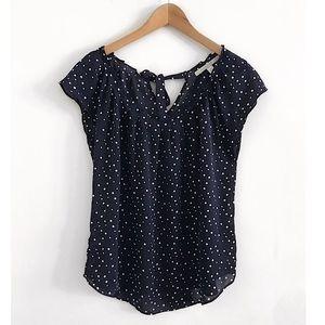 Polka dot top blouse shirt size M